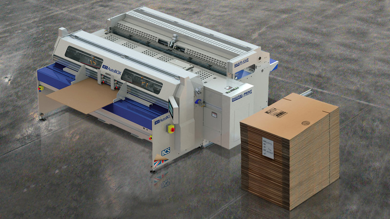 World's First Corrugated Box Maker with Inline Digital Printing